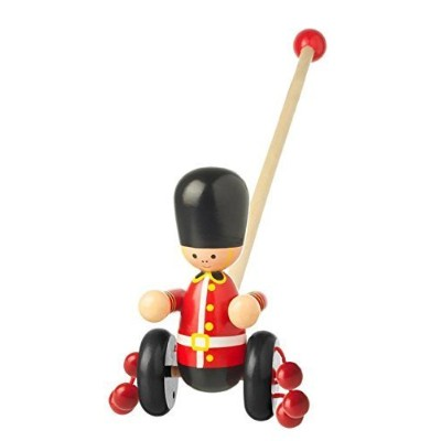 Orange Tree Toys Push Along Wooden Toy - Soldier