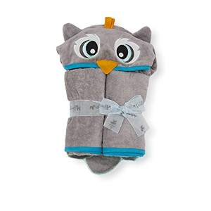 54 x 30 Owl Toddler Towel, Grey, Frenchie Mini Couture by Frenchie Mini Couture