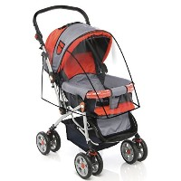 Stroller Cover for Rain Wind and Dirt - Keep Baby Dry and Clean When Going for a Walk - See Thru...