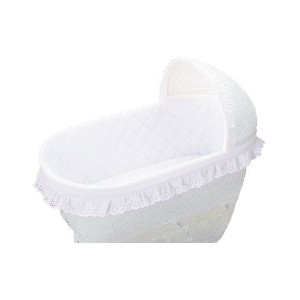 bkb Bassinet Bumper, White 16 X 32 by bkb