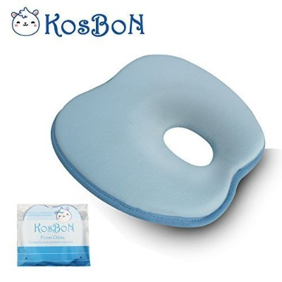KSB 9 Inches Blue Soft Memory Foam Baby Pillow Head Positioner Neck Support,Prevent Flat Head...