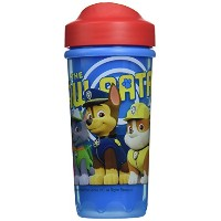 Zak Designs Toddlerific Perfect Flo Toddler Cup with Paw Patrol with Red Lid, Double Wall Insulated...