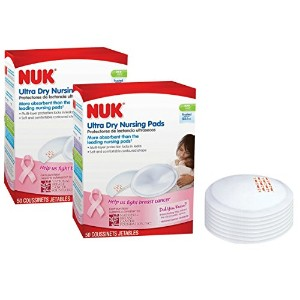 NUK Ultra Dry Disposable Nursing Pads, 50 Count by NUK