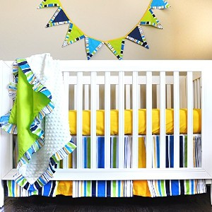 Pam Grace Creations Simply Four Piece Crib Bedding Set, Dark Blue by Pam Grace Creations