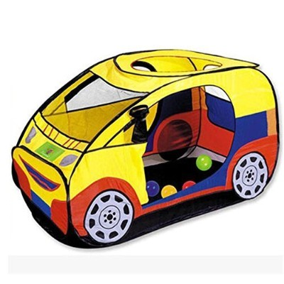 Zewik Kids Pop-up Play Tent Children Cartoon Car Canopy Kids Adventure Station