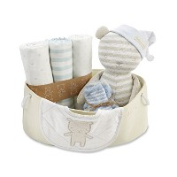 Baby Aspen Beary Special Welcome Set, Blue/White/Beige, 0-6 Months by Baby Aspen