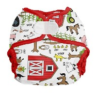 Imagine Baby Products Newborn Hook and Loop Diaper Cover, Barnyard Jam by Imagine Baby Products