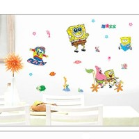 Gadfly- Sponge Bob Peel & Stick Nursery/baby Wall Sticker Decal by GADFLY