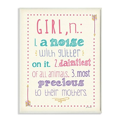 The Kids Room by Stupell Textual Art Wall Plaque, A Noise with Glitter on It by The Kids Room by...