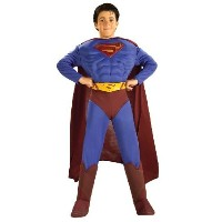 Deluxe Muscle Chest Superman Costume,Small 4-6 [並行輸入品]