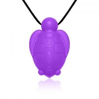 Siliconies Turtle Pendant - Silicone Necklace (Teething/Nursing/Sensory) (Purple) [並行輸入品]