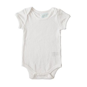 Cigogne BeBe 100% Cotton Ultra Soft Pointelle BodySuit White 9~12 Month by Cigogne BeBe