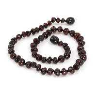 Momma Goose Teething Necklace, Cherry, 21' [並行輸入品]