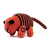 Estella Hand Knit Organic Tiger Rattle Baby Toy by Estella, Designed for Children