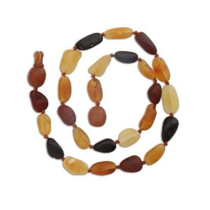 Natural Baltic Amber Teething Necklace in Multi Color (Unpolished) 11 - 11.5 by Cherished Moments