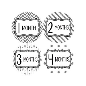 Months in Motion 805 Monthly Baby Stickers Baby Girl Months 1-12 Glitter by Months In Motion