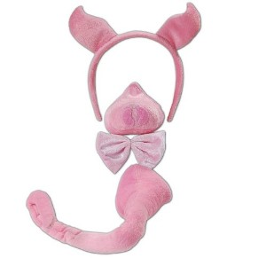 Deluxe Pig Set Fancy Dress Kit With Sound!! Farmyard Animal