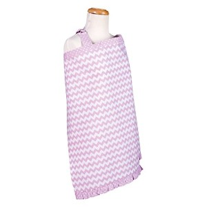 Trend Lab Orchid Bloom Chevron Nursing Cover, Purple by Trend Lab