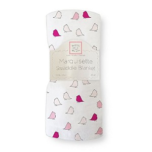Swaddle Designs Marquisette Swaddling Blanket 116cm×116cm 10.LittleChickies/VeryBerry [並行輸入品]