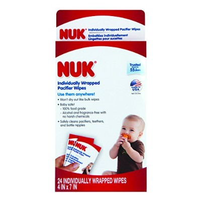 NUK Individually Wrapped Pacifier Wipes by NUK