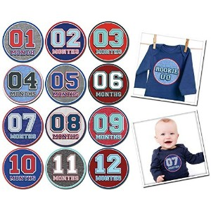 Sticky Bellies Baby Month Stickers - Sporty Shorty by Sticky Bellies
