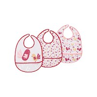 JJ Cole Bib Set, Pink Chickadee by JJ Cole