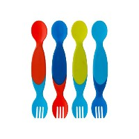 The First Years Two for One Toddler Utensils ,Colors May Vary by The First Years