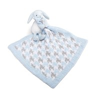 Nat and Jules Baren Bunny and Chenille Blankie Set by Nat and Jules