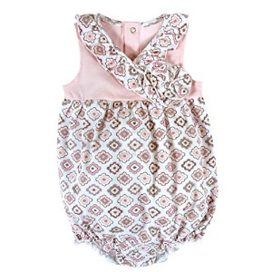 Stephan Baby Bubble Romper-Style Diamond Flower Diaper Cover, Pink/Grey/White, 6-12 Months by...