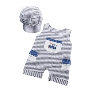 Baby Aspen All Aboard! Romper and Hat Set by Baby Aspen