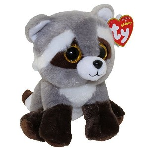 New Ty Beanie TY Beanie Baby - BANDIT the Raccoon (6 inch) Boos Cute Ty Beanie Baby - Plush Toys 6'...