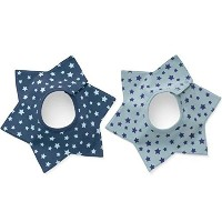 GS.Lee 360 Degree Six Star Waterproof Absorbent Terry Baby Bibs with Snaps, Star by GS.Lee