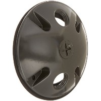 RAB Lighting C103A Die Cast Aluminum Weatherproof Round Cover with 3 Holes, 4-1/2 Diameter, Bronze...