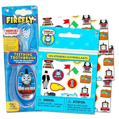 Thomas the Train Baby Toothbrush with Reward Stickers -- Teething Toothbrush Toddler Infant by Baby...