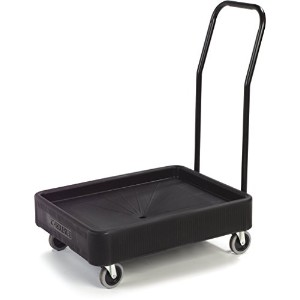 Carlisle XDL3000H03 Cateraide Polyethylene Dolly with Handle, 28-3/4 Length x 22-3/8 Width x 5...
