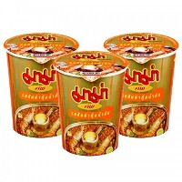 インスタント麺 トムヤムクン 。 MAMA CUP INSTANT NOODLES SHRIMP FLAVOR (TOM YUM) 60 G. PACK 3