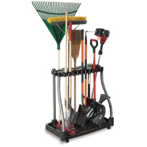 Rubbermaid 5E28 Deluxe Tool Tower Rack with Casters, Holds 40 Tools by Rubbermaid