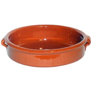 Amazing Cookware Natural Terracotta 25cm Round Dish by Amazing Cookware