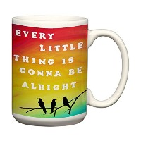 Every Little Thing is Gonna Be Alright Large Coffee Mug With Sayingsインスピレーション引用符Three Little Birds...