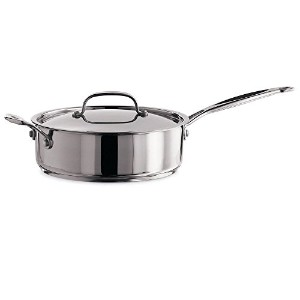Cuisinart 733-30H Chef's Classic Stainless 5-1/2-Quart Saute Pan with Helper Handle and Cover ...