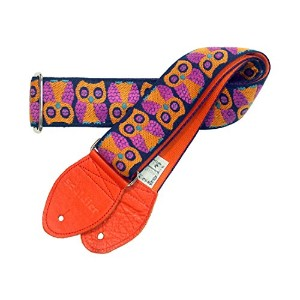 Souldier straps Owls Orange ギターストラップ