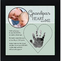 Baby Child Keepsake Handprint Frame with Poetry - Mommy, Daddy, Grandma or Grandpa (Grandpa) by The...