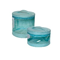 JJ Cole Clear Storage Bin Set, Blue by JJ Cole