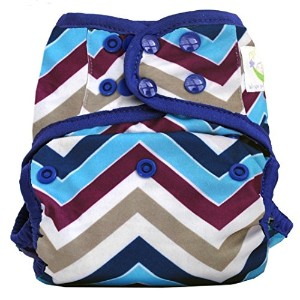 Sweet Pea One Size Cloth Diaper Cover (Chevron Purple) by Sweet Pea