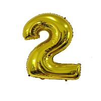 Langxun Number 0-9 Thickening Gold Foil Digital Air-filled /Hydrogen / Helium Balloons for Birthday...