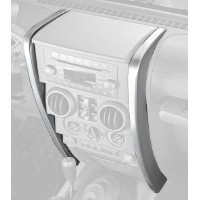 Rugged Ridge 11151.14 Center Dash Accents, Brushed Silver, 07-10 Jeep Wrangler