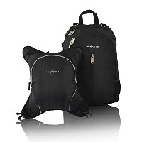 Obersee Rio Diaper Bag Backpack with Detachable Cooler, Black/Black by Obersee