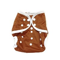 BB2 Baby One Size Solid Happy Leak-free Snaps Cloth Diaper Cover for Prefolds (One Size, Brown) by...