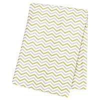Trend Lab Sage and Gray Chevron Deluxe Flannel Swaddle Blanket by Trend Lab