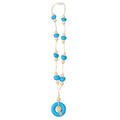 MyBoo Autism/Sensory/Teething Chewable Round and Heart Beaded Necklace - Set of 2, Blue/Pink by MyBoo